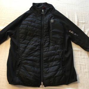 Women's black quilted riding jacket